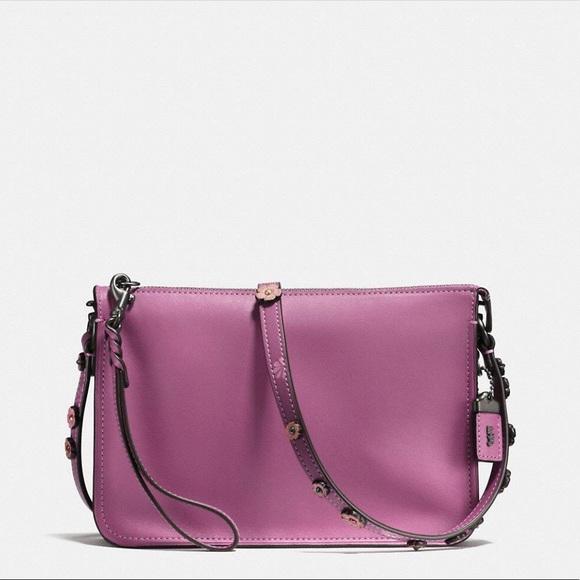 06018fbe COACH Tea Rose Soho Leather Crossbody Pouch Bag NWT